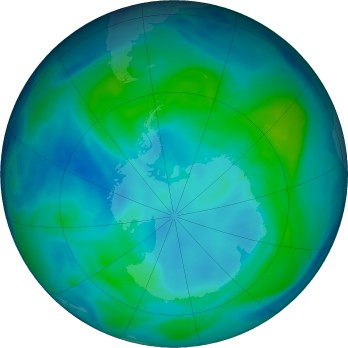 NASA ozone over Antarctica